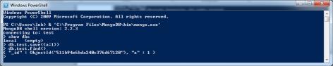 Insert MongoDB test data