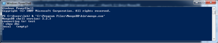List empty MongoDB