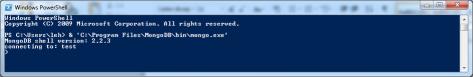 Start MongoDB shell